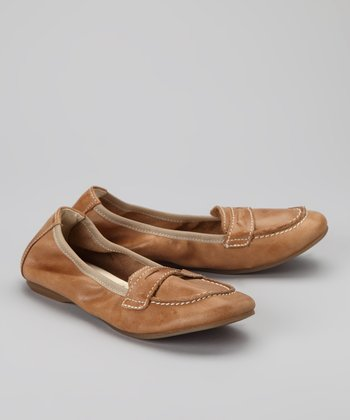 Tobacco Loafer Ballet Flat