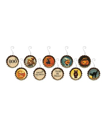 Halloween Bottle Cap Ornament Set