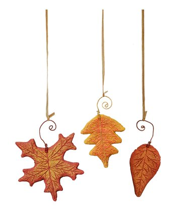 Falling Leaf Ornament Set