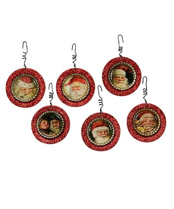 Christmas Bottle Cap Plate Ornament Set