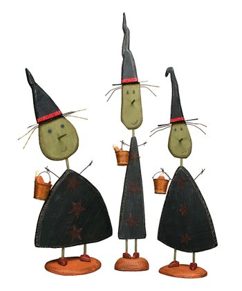 Tall Standing Witch Figurine Set