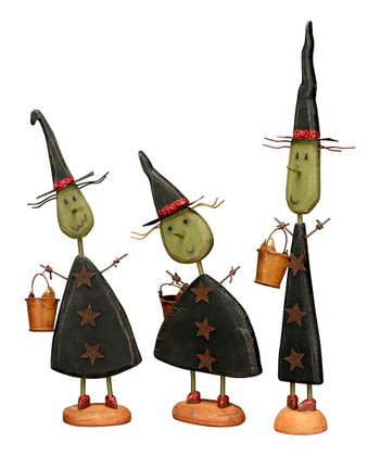 Small Standing Witch Figurine Set