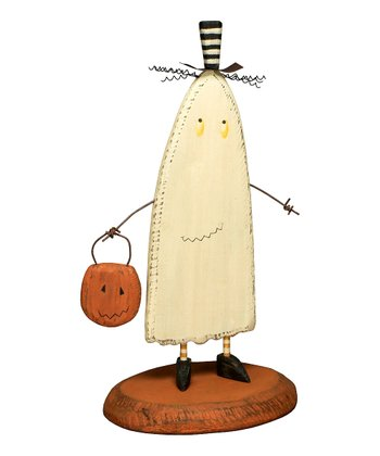 Wooden Ghost Figurine