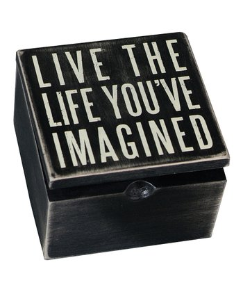 Black 'Live the Life' Box