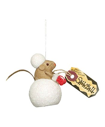 Snowball Mouse Ornament