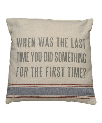 Natural 'First Time' Pillow