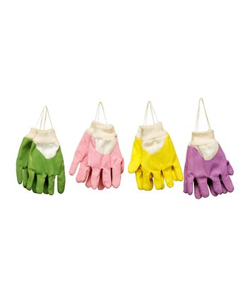 Green & Pink Glove Ornament Set