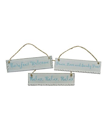 Sandy Feet Sign 3-Piece Set