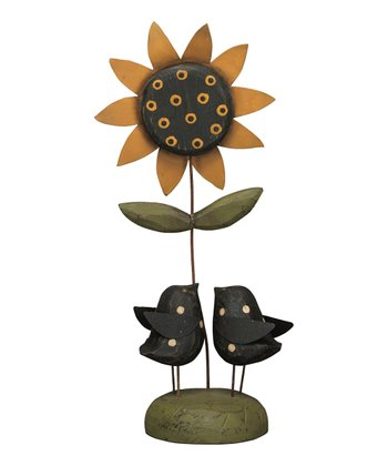 Yellow Sunny Day Blackbird Sculpture