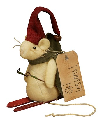 'Ski Lessons' Mouse Figurine