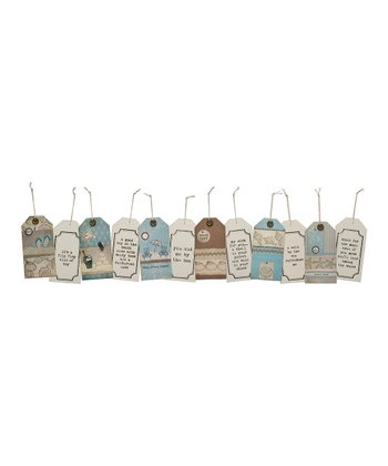 Beach Wood Tag Six-Piece Set