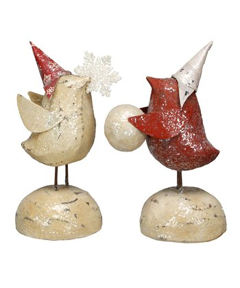 Bird with Hat Figurine Set