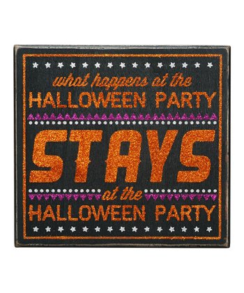 'Halloween Party' Box Sign