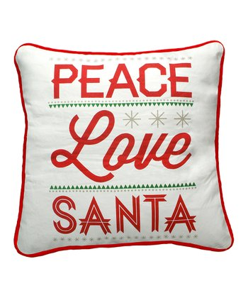 'Love Santa' Fancy Pillow