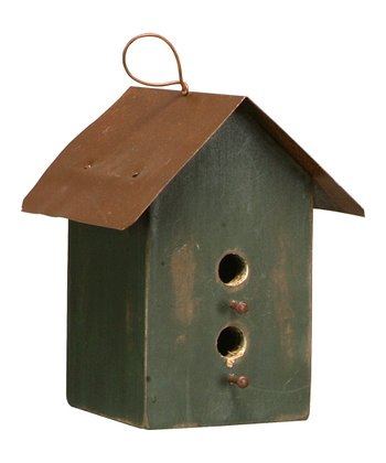 Dark Green Dual Birdhouse