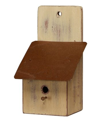 Tan Saltbox Birdhouse