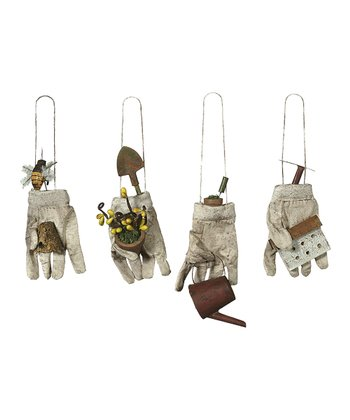 Muddy Glove Ornament Set