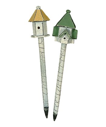 Yellow & Green Birdhouse Pen Set