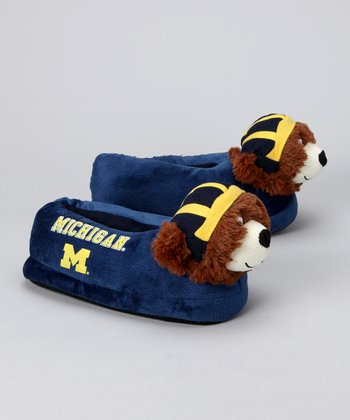 Blue Michigan Mascot Slipper
