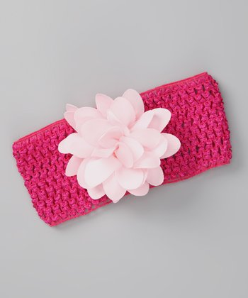 Fuchsia Flower Headband