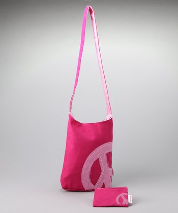 Fuchsia Peace Shoulder Bag & Coin Purse