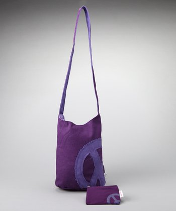 Purple Peace Shoulder Bag & Coin Purse