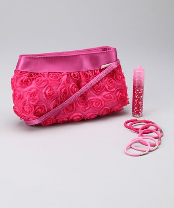 Fuchsia Rose Clutch Set