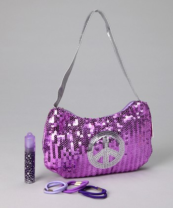 Lilac Sequin Hobo Set
