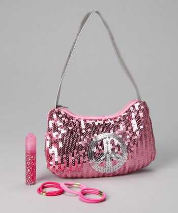 Pink Sequin Hobo Set