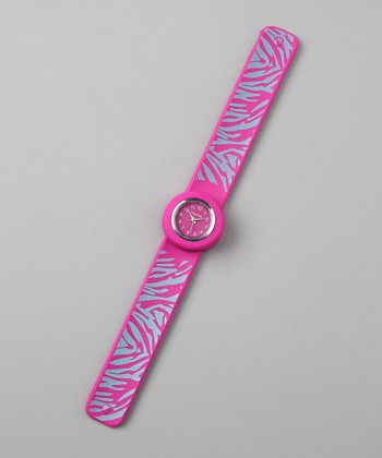 Fuchsia Zebra Slap Watch