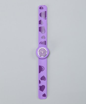 Lilac Heart Slap Watch