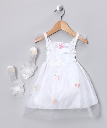 White Princess Dress-Up Set - Toddler & Girls