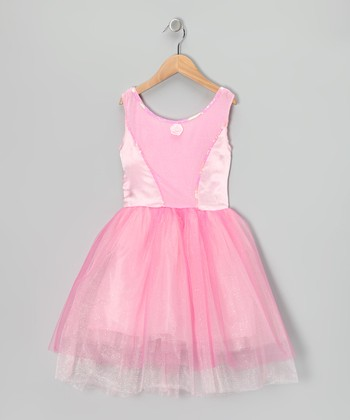 Pink Velvet & Sequin Princess Dress - Toddler & Girls
