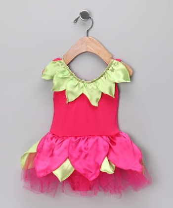 Fuchsia Petal Skirted Bodysuit - Infant