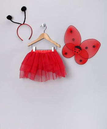 Red Ladybug Dress-Up Set - Toddler & Girls