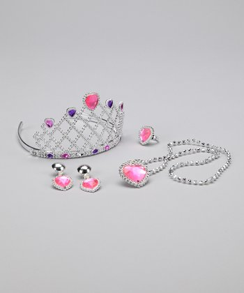 Pink Princess Tiara Set