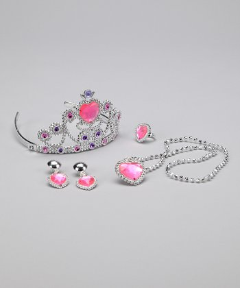 Pink Heart Princess Tiara Set