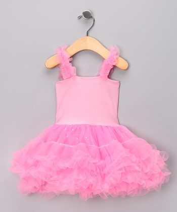 Pink Posie Tutu Dress - Toddler & Girls