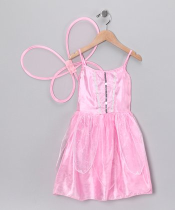 Light Pink Dress & Wings - Girls