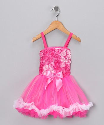 Pink Rose Princess Dress - Girls