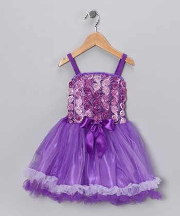 Purple Rose Princess Dress - Girls