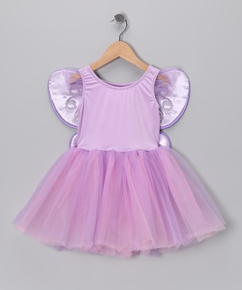 Lilac & Pink Tutu Dress & Wings - Toddler & Girls