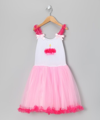 Pink Cupcake Candy Tulle Dress - Toddler & Girls