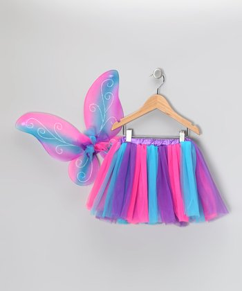 Pink & Purple Skirt & Wings - Toddler & Girls