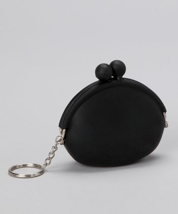 Princess Expressions Black Silicone Coin Purse Key Chain