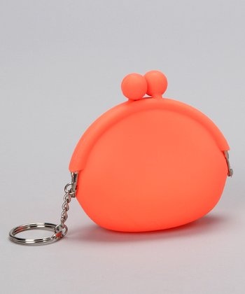 Princess Expressions Orange Silicone Coin Purse Key Chain