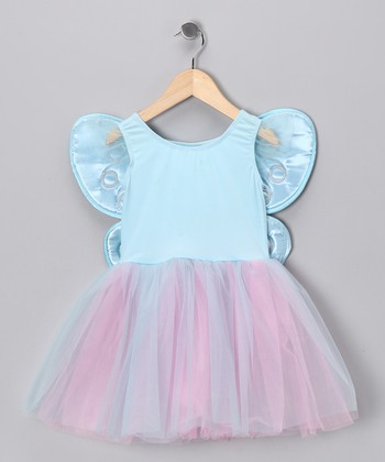 Turquoise & Pink Tutu Dress & Wings - Toddler & Girls