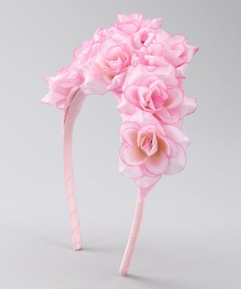Pink Flower Bouquet Headband