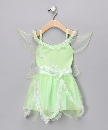 Green Fairy Wing Dress - Girls