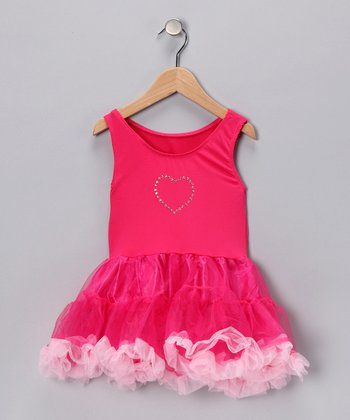 Fuchsia Sparkle Tutu Dress - Toddler & Girls